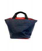 Herve Chapelier(エルベシャプリエ)の古着「舟形ハンドバッグ」|ネイビー
