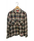 ()の古着「ネルシャツ」|グレー×ネイビー