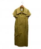 ROSE BUD(ローズバッド)の古着「ノースリーブトレンチコート」|ベージュ