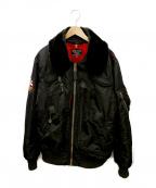 ALPHA INDUSTRIES(アルファインダストリーズ)の古着「ジャケット」|ブラック