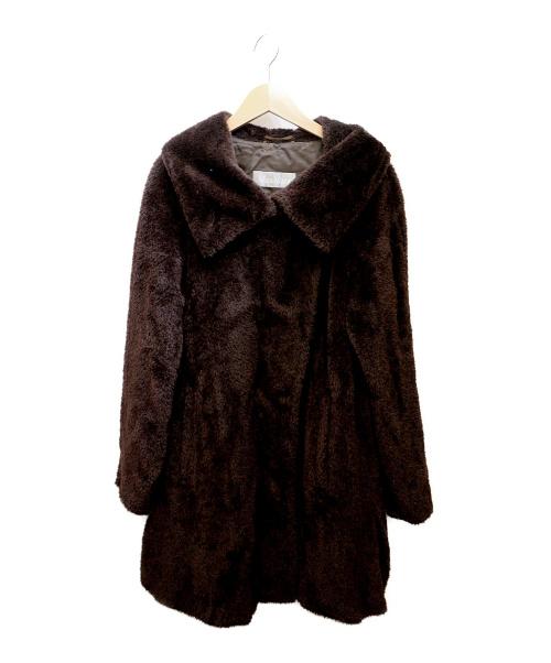 MaxMara(マックスマラ)MaxMara (マックスマーラ) アルパカ混コート ブラウン サイズ:40の古着・服飾アイテム