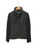 LANVIN COLLECTION(ランバンコレクション)の古着「中綿ジャケット」|ブラック