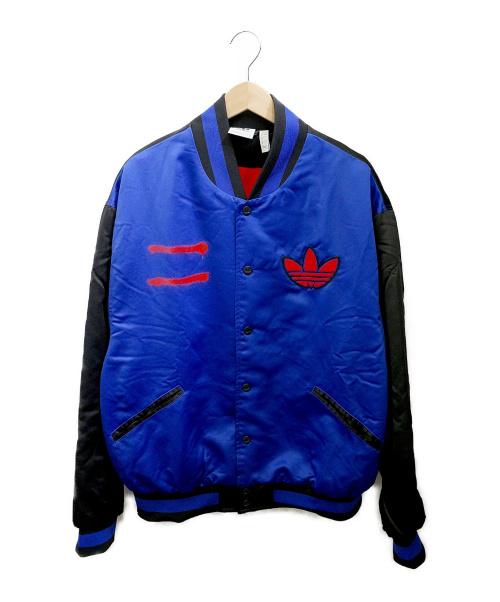 adidas(アディダス)adidas (アディダス) RUN-DMCジャケット ブルー×ブラック サイズ:Oの古着・服飾アイテム