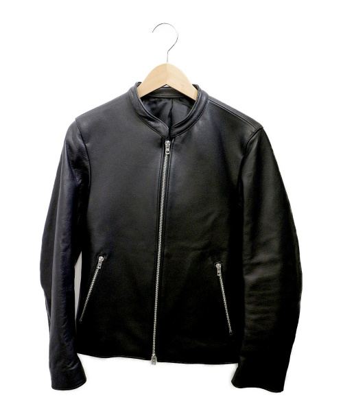 LIDnM(リドム)LIDnM (リドム) シングルライダースジャケット ブラック サイズ:Sの古着・服飾アイテム