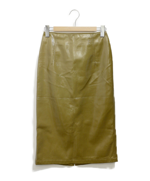 CELFORD(セルフォード)CELFORD (セルフォード) フェイクレザータイトスカート オリーブ サイズ:36の古着・服飾アイテム