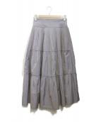 JUSGLITTY(ジャスグリッティー)の古着「タックプリーツスカート」|パープル