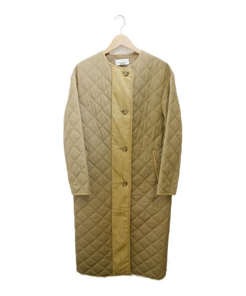 H.STANDARD(アッシュ スタンダード)H.STANDARD (アッシュ スタンダード) キルティングバルマカンコート ベージュ サイズ:Sの古着・服飾アイテム