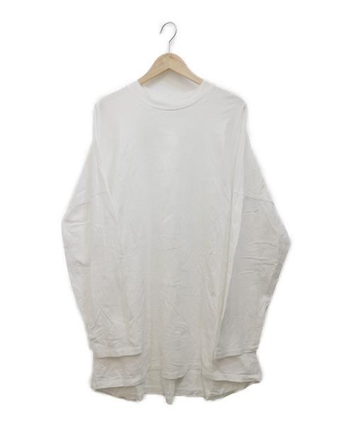 My Beautiful Landlet(マイビューティフルランドレット)My Beautiful Landlet (マイビューティフルランドレット) ジャージーロングスリーブTシャツ ホワイト サイズ:1の古着・服飾アイテム