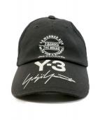 Y-3(ワイスリー)の古着「キャップ」|ブラック