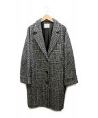 COUTURE DADAM(クチュール ド アダム)の古着「COCOON CHESTERFIELD COAT」|ブラック×ホワイト
