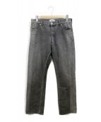 SERGE de bleu(サージ)の古着「バイカラーデニムパンツ」|ブラック