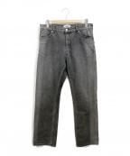 SERGE de bleu(サージ デ ブルー)の古着「バイカラーデニムパンツ」|ブラック