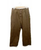 Elephant Blanc(エレファンブラン)の古着「刺し子ワイドイージーパンツ」|ブラウン