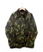 Barbour()の古着「Bourne Camo Waxed Jacket」|カーキ