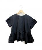YORI(ヨリ)の古着「バックフレアブラウス」|ブラック