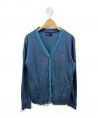 FRED PERRY(フレッドペリー)の古着「Vネックカーディガン」|ブルー