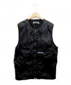 PLEASURES(プレジャーズ)の古着「forever nylon vest」 ブラック