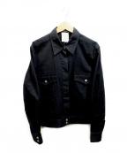 CHANEL()の古着「コットンジャケット」 ブラック
