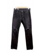 ()の古着「ダメージデニムパンツ」|ブラック