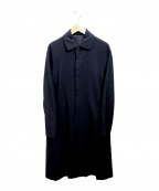 JURGEN LEHL(ヨーガンレール)の古着「ステンカラーコート」 ネイビー