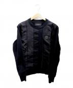 VIKTOR&ROLF(ヴィクター&ロルフ)の古着「切替スウェット」 ブラック