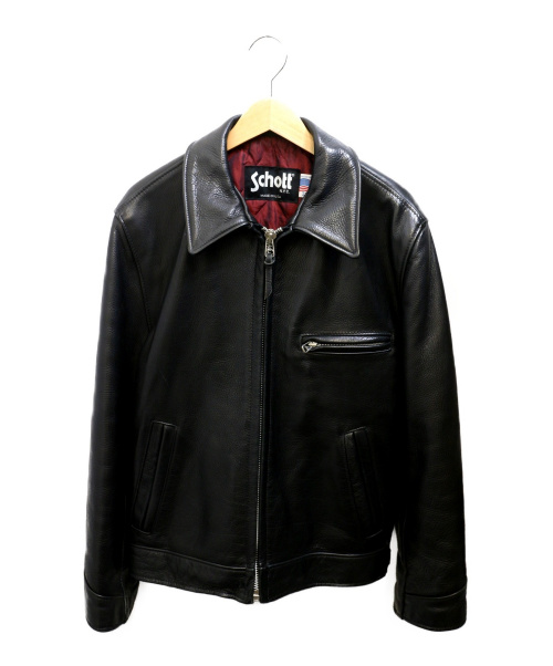 Schott(ショット)Schott (ショット) シングルレザージャケット ブラック サイズ:38の古着・服飾アイテム