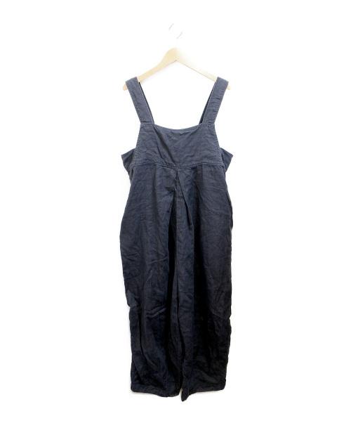 nest Robe(ネストローブ)nest Robe (ネストローブ) リネンオーバーオール ネイビー サイズ:Fの古着・服飾アイテム