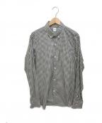 TAKEO KIKUCHI(タケオキクチ)の古着「ボタンダウンシャツ」 ホワイト×ブラック