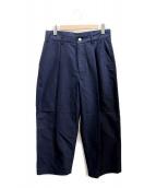 Traditional Weatherwear(トラディショナルウェザーウェア)の古着「タックワイドパンツ」|ネイビー