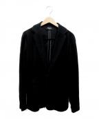1PIU1UGUALE3 RELAX(ウノピゥウノウグァーレトレリラックス)の古着「パイルテーラードジャケット」 ブラック