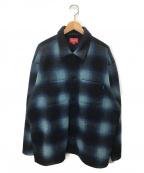 SUPREME()の古着「シャドープレイドフリースシャツ」|ネイビー
