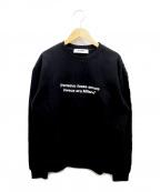 MSGM()の古着「MILANO QUOTE SWEATSHIRT」|ブラック