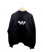 MSGM()の古着「ロゴハイネックスウェット」|ブラック