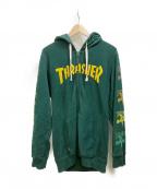 THRASHER(スラッシャー)の古着「ジップパーカー」|グリーン