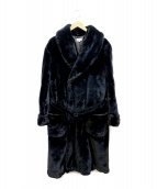 PAUL SMITH(ポールスミス)の古着「フェイクファーコート」|ブラック
