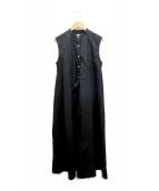 ()の古着「ノースリシャツワンピース」|ブラック