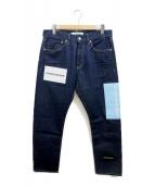 ()の古着「logo print jeans」|インディゴ