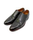 SCOTCH GRAIN(スコッチグレイン)の古着「オデッサⅡ920セミブローグレザーシューズ」 ブラック