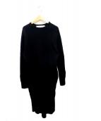 ()の古着「ミリタリーリブドレス」 ブラック