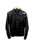LOUNGE LIZARD(ラウンジリザード)の古着「レザージャケット」|ブラック