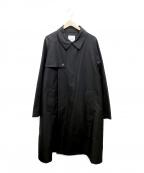 CLANE HOMME(クラネ オム)の古着「FLY FRONT TRENCH COAT」|ブラック