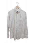 BURBERRY BLACK LABEL(バーバリーブラックレーベル)の古着「ストライプシャツ」|ホワイト