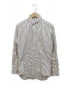 ()の古着「ボタンダウンシャツ」|ホワイト×グレー