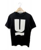 ()の古着「UロゴTシャツ」|ブラック