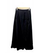Ys(ワイズ)の古着「ポケットウールスカート」|ブラック