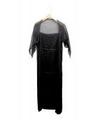 yohji yamamoto+noir(ヨウジヤマモトプリュスノアール)の古着「シルクワンピース」|ブラック