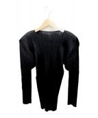 PLEATS PLEASE(プリーツプリーズ)の古着「プリーツカットソー」|ブラック