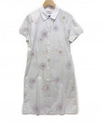 MICHEL KLEIN(ミッシェルクラン)の古着「シャツワンピース」|ホワイト