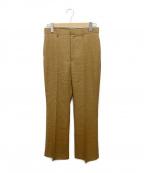 AURALEE(オーラリー)の古着「WOOL CUPRA LINEN CLOTH SLACKS」|ブラウン