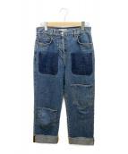 J.W.ANDERSON(ジェイダブリューアンダーソン)の古着「Shaded Pocket Wide Leg Ankle J」|インディゴ